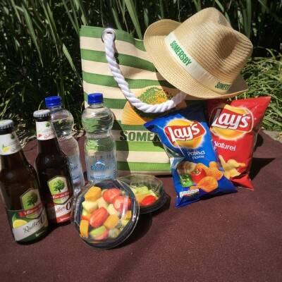 <p>Snack strandtas voor onderweg</p>